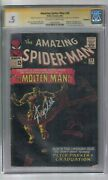 Amazing Spider-man 28 Signed By Stan Lee Cgc Ss Graded 0.5 Marvel Comic Book