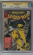 Amazing Spider-man 30 Signed By Stan Lee Cgc Ss Graded 3.0 Marvel Comic Book