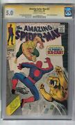 Amazing Spider-man 57 Signed By Stan Lee Cgc Ss Graded 5.0 Marvel Comic Book