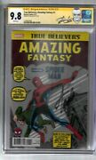 True Believers Amazing Fantasy 1 Signed By Stan Lee Cgc Ss Graded 9.8 Marvel