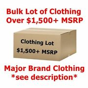 1500+ Bulk Wholesale Lot Menand039s/womenand039s Clothing - Major Designer Brand Names