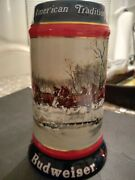 Vintage Budweiser The Seasons Best Clydesdales Collectable Holiday Beer Stein