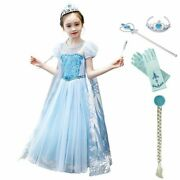 Girl Princess Elsa Costume Kid Cosplay Outfit Children Party Festival Clothing