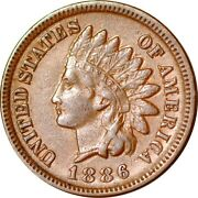 1886 1c Variety 1 Indian Head Cent Xf K10746