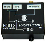 Rolls Pi9 Phone Patch Rj11 To Rca Or 1/8 Inch Mini, New