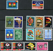 Ghana Early Qeii 5 Sets Of Mint Stamps To 10 Shillings Mnh