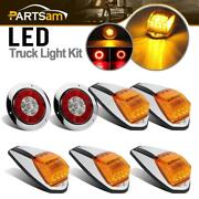 17led Amber Cab Marker Lights + 4 Round Red/amber 16led Stop Tail Signal Light