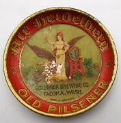 Antique Columbia Brewing Old Pilsener Beer Coaster Tray Germany Tin Litho 7