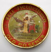 Antique Columbia Brewing Old Pilsener Beer Coaster Tray Germany Tin Litho 10