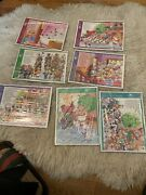 Vtg 1980s Golden Frame Tray Puzzle Lot Of 7 Puzzles Disney Mickeyand Donald Bambi