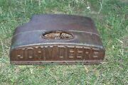 Antique John Deere Tractor Engine Cover Heavy Cast Iron Advertisement Farm