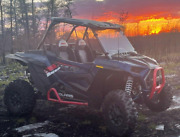 For Rzr Vented 1/4 Hard Coated Full Windshield 2019+ 1000 Xp Turbo Straps