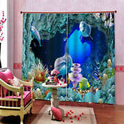 Degree Subsea Cave Series Strict Printing 3d Blockout Curtains Fabric Window