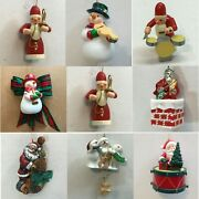M39 Music Santa Snowman Ornaments Each Priced Separately Many Choices Playing