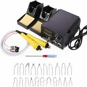 110v 60w Wood Burning Machine Pyrography Kit For Wood Leather 2 Pen 20 Wire Nibs