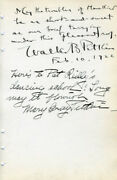 Walter B. Pitkin - Autograph Quotation Signed 02/10/1922 With Co-signers