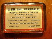 Vintage The Harris Motor Transportation Co. Indianapolis Advertising Paperweight