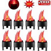 1-10pack Led Flame Fire Effect Light Burning Flickering Lamp Party Bar Decor
