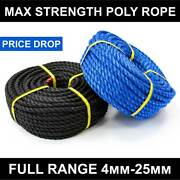 Titan Poly Rope [4mm-25mm] | Heavy Duty Polypropylene - Strong Cord Yacht/boat