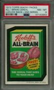 1973 Topps Wacky Packages All-brain Cereal 2nd Series Ludlow Psa 8 Nm-mt Card