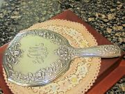 Beautiful Victorian Gorham Flowers And Bows Sterling Large Hand Mirror 11