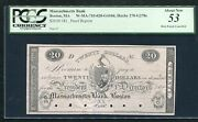1810andrsquos 20 Massachusetts Bank Boston Ma Obsolete Proof Pcgs About Unc-53