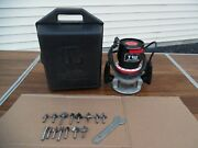 Sears Craftsman 1 1/2 Hp Router 315.17492 15 Bits W/2 New Wrench Power Tool Case