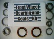 Four Front Wheel Bearings, 2 Seals Studebaker 1956-66-replace These Worn Parts