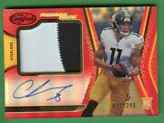 Chase Claypool 2020 Certified Rookie Freshman Farbic Patch Auto /249 Steelers