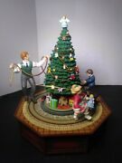 Vtg Enesco Animated Musical An Old Fashioned Christmas Tree 1990 Boxed