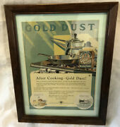Vintage 1930and039s Gold Dust Washing Powder Advertising Sign