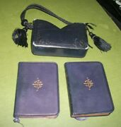 1887 Set Of 2 Miniature Leather Prayer Books In Leather 'purse'-fr.pustet