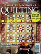 American Patchwork And Quilting October 2004 Prickly Stars Quick Crib Quilts Ma