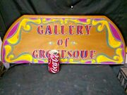 Gallery Of The Grotesque Sideshow Sign,painted,oddity,banner,odd,freak, Art,