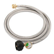 6 Ft 1lb To 20lb Converter Propane Adapter Hose And Propane Tank Gauge Type1 Qcc1