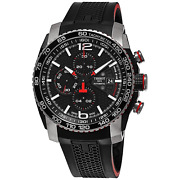 Tissot Black Stainless Steel Swiss Automatic Watch With Rubber Band Menand039s 1405