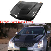 Engine Hood Bonnet Cover For Cadillac Cts-v Coupe 11-13 Carbon Fiber Customized