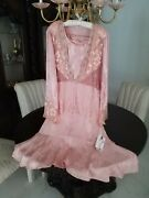 Vintage New Spencer Alexis Pretty Pink 3pc Special Occation See Meas....bust 52