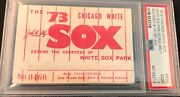 1973 George Brett 1st Hit/debut Ticket Pass Psa At Chicago White Sox V Royals Gd
