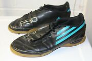 Menand039s Size 6 Adidas F50 Black/blue/silver Indoor Soccer Shoes