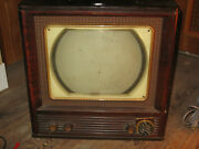 Antique Philco Tv Model 50-t1404 10-12 Inch Metal Crt Collectable Non Working