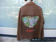 Disney 45th Anniversary Leather Jacket, Mens Size Extra, Large, Embroidered