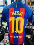 Nike Barcelona Home Jersey 2016 Retro Classic Lionel Messi 10 Size Mans Large