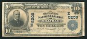 1902 10 The Mechanics National Bank Of Millville, Nj National Currency Ch 5208