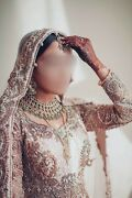 Asian/indian/pakistani Bridal Lengha Champagne Ivory Rose Gold Dusty Pink