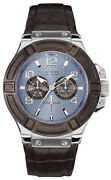 Watch Man R.guess Cab Esf.azul.cor.marron W0040g10 Of Material Brown