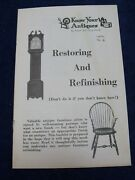 Restoring And Refinishing Know Your Antiques Booklet 6 Ralph And Terry Kovel