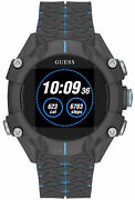 Orologio Uomo Guess Watches Gents Connect C3001g3 Di Gomma Nera