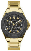 Montre Homme Guess Watches Gents Legacy W1305g2 En Acier Inoxydable Or
