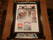 Emerson Fittipaldi Signed-ltd. Ed. Print Excellence Of-1993-by Gordon Cox-cart
